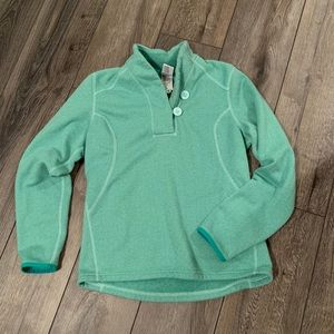 Sea foam green fleece sweater north face